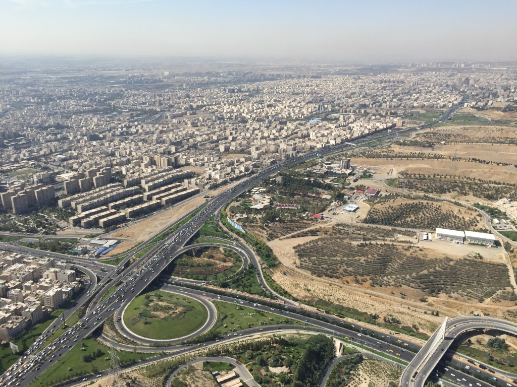 360 degree view of Tehran Iran from Milad Tower